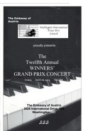 compete program for the event - Washington International Piano Arts ...