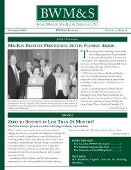 Bulletin Vol 3 Issue 4 Nov 04 - Burke, Warren, MacKay & Serritella, PC