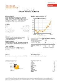 Fondfaktablad för Gustavia Ny Teknik - Pensionsmyndigheten