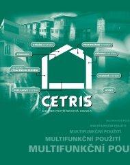 Základní vlastnosti - Cetris