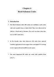 Chapter 6 Reed-Solomon Codes