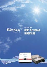 GRID TIE SOLAR INVERTERS - Su-Kam