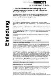 die Einladung als PDF herunterladen. - Radioschule - Schulradio ...