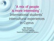 International students - CERCLL
