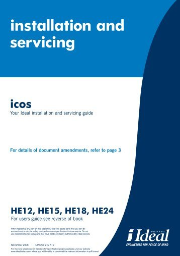 technical_Ideal Icos Installation and Servicing Brochure - BHL.co.uk