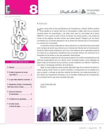 1 imprimir   siguiente Editorial CONTENIDO - Facultad Mexicana de ...