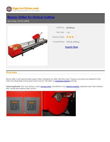 sign-in-china-Banner Slitter for Vertical Cutting
