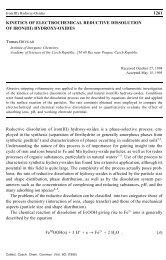 Kinetics of Electrochemical Reductive Dissolution of Iron(III) Hydroxy ...