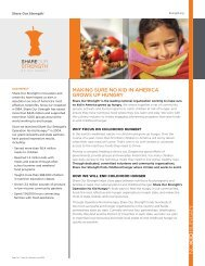 making sure no kid in america grows up hungry - Share Our Strength