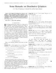 Some Remarks on Distributive Q-lattices - Yang's Scientific ...