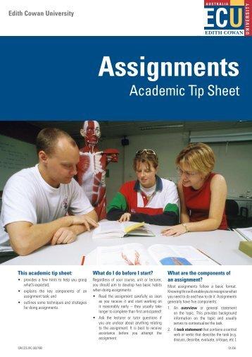 Assignments - Edith Cowan University