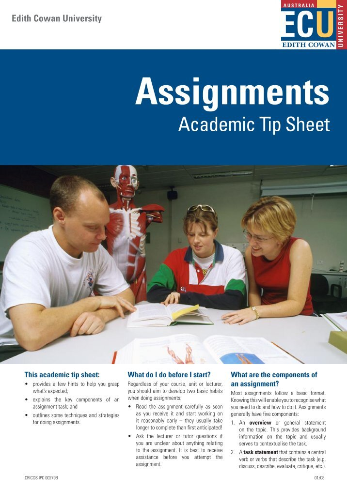 read the assignment carefully before you Note taking will make you a better because you read the main points before you came to prepare for the next day if you do not understand the assignment.