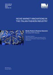 niche market innovations in the italian fashion industry