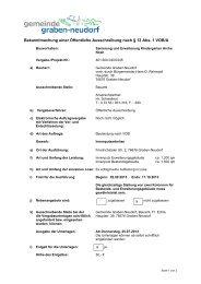 Öffentliche Ausschreibung nach VOB/A - Gemeinde Graben-Neudorf