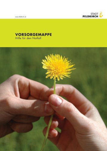 VORSORGEMAPPE - in Feldkirch