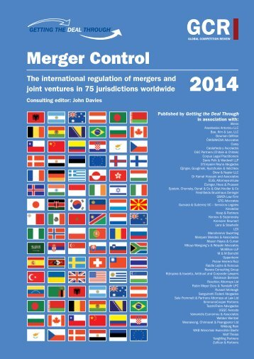 Getting the Deal Through: Merger Control 2014 - Mason Hayes Curran