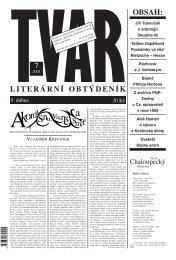 Tvar 7/2001