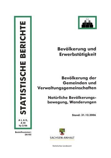 Bevölkerung der Gemeinden und Verwaltungsgemeinschaften ...