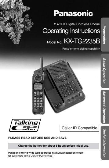 Panasonic KX-TG2235.PDF - Barclay Enterprises, Inc.