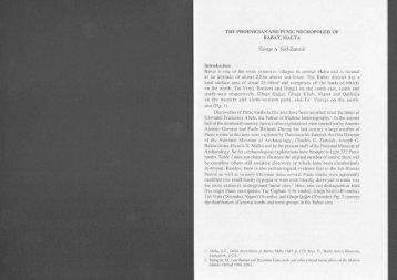 THE PHOENICIAN AND PUNIC NECROPOLEIS OF RABAT, MALTA