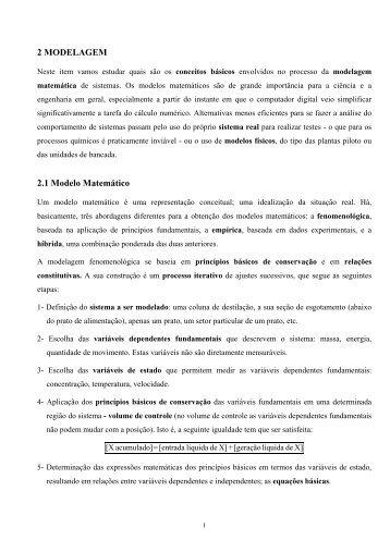 Capítulo 2 - Programa de Engenharia Química - COPPE / UFRJ