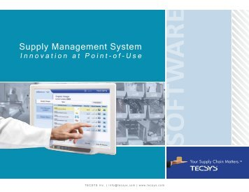 TECSYS Supply Management System (SMS) - HIMSS Analytics