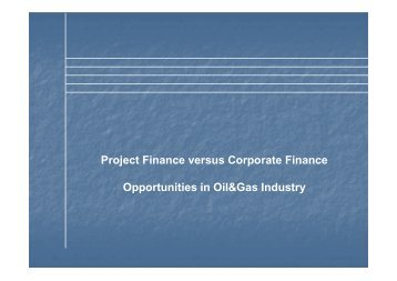 of the project finance - Petroleumclub.ro