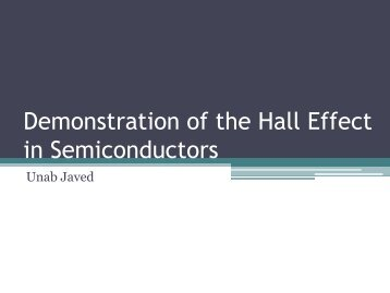 Demonstrating the Hall Effect