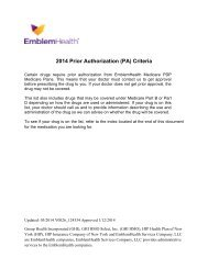 EmblemHealth Medicare Part D Prior Authorization (PDP)
