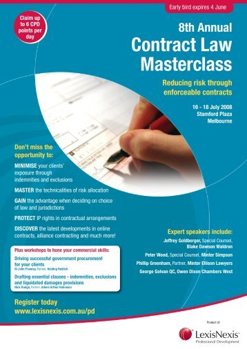 8th Annual Contract Law Masterclass - LexisNexis