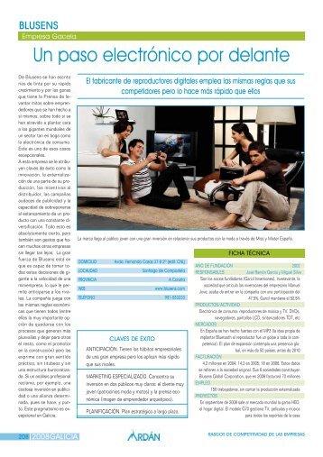 Reportaje: BLUSENS TECHNOLOGY, S.L.: Empresa Gacela - Ardan