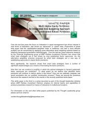 Multi-Alpha Equity Portfolios - BNP Paribas Investment Partners