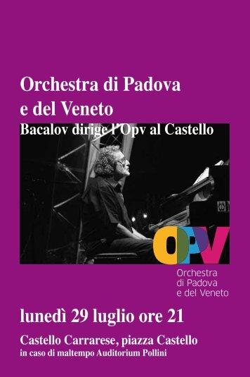 Orchestra di Padova e del Veneto - PadovaCultura - Comune di ...