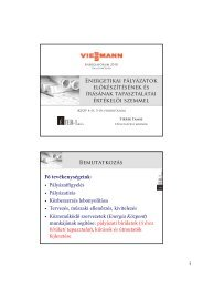 KEOP támogatási rendszerek tapasztalatai - Viessmann