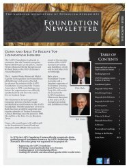 Spring 2013 - the AAPG Foundation - American Association of ...