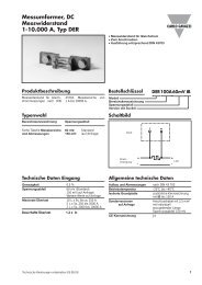 Messumformer, DC Messwiderstand 1-10.000 A, Typ DER