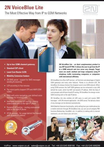 2N VoiceBlue Lite Datasheet (PDF)