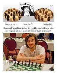 October 2012 - Northwest Chess!