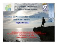 Membrane Processes for Desalination and Water Reuse - mageep