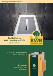Stückholzheizung KWB Classicfire 20-50 kW - System Sonne GmbH