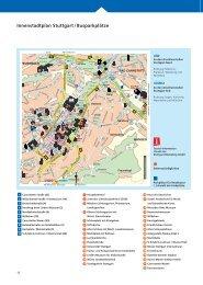 Innenstadtplan Stuttgart / Busparkplätze - Ochs'n Willi