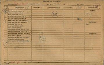 REGIMENTAL DOCUMENTS I