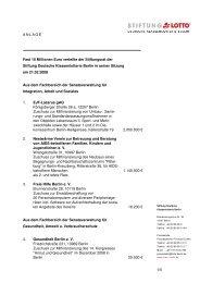 1/5 ANLAGE Fast 10 Millionen Euro verteilte der Stiftungsrat der ...