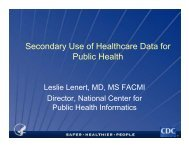 Leslie Lenert - National Committee on Vital and Health Statistics