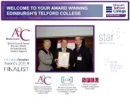 LEARNER SERVICES - Edinburgh's Telford College