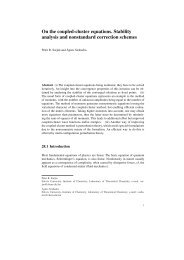 On the coupled-cluster equations. Stability analysis and ... - coulson