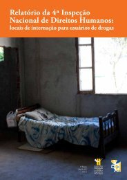 Relatório da 4ª Inspeção Nacional de Direitos Humanos - Crp/ sp