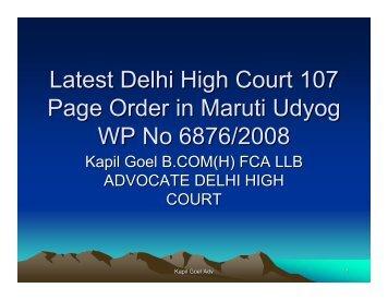 Latest Delhi High Court 107 Page Order in Maruti ... - tnkpsc.com