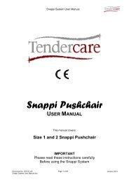 snappi system user manual v18 - Tendercare Ltd