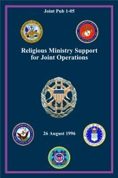 JP 1-05 Religious Ministry Support for Joint Operations - Military ...